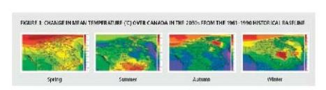 temp ch canada by seasons