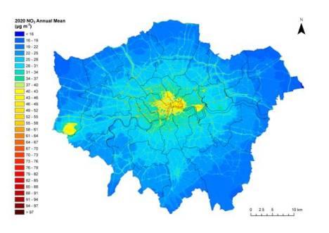 London AQ Map