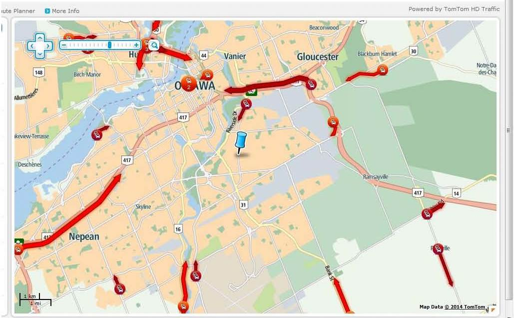 Ottawa Traffic Map How Congested with Traffic are Canadian Cities? | Pollution Free