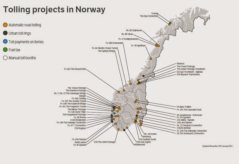 Norway toll roads
